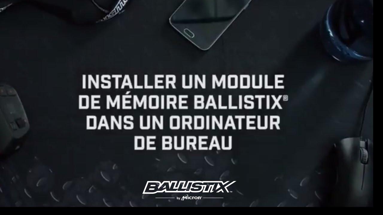 Installation de mémoire ballistix pour gamer dans un ordinateur