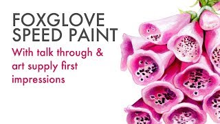 Painting Foxglove Flowers with Liquid Watercolor | PLUS First Impressions of New Art Supplies