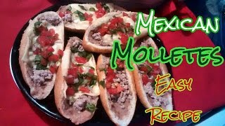 How to make Mexican Molletes (Mexican Bean Sandwich) Mexican Street food