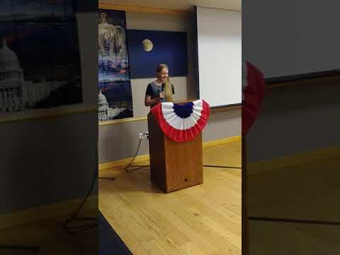 Los Alamos High School student Katherine Werner gives a call to action