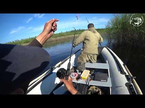 Рыбалка на новом моторе для резиновой лодки! Yakutia Якутия
