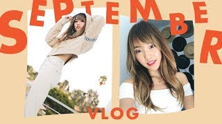 Why I Got Bangs + Hanging Out At Home | September Vlog