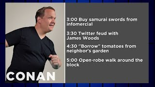 Andy Richter's INSANE Daily Routine  - CONAN on TBS