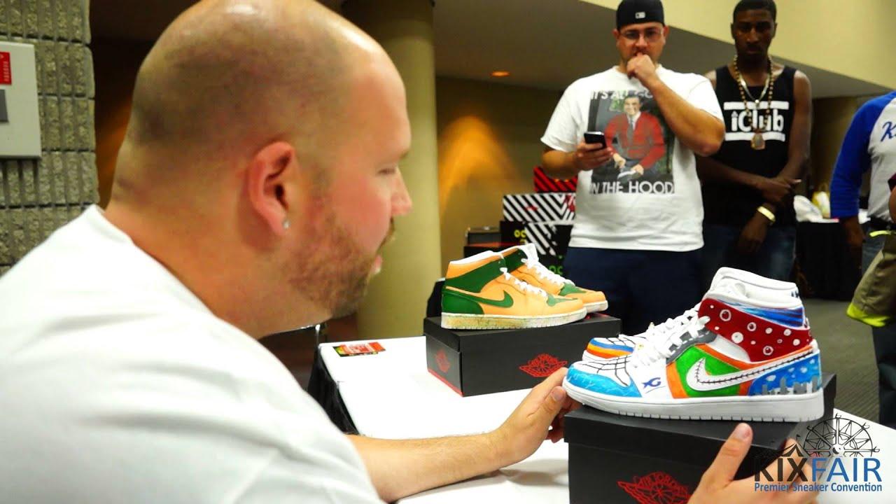 5d95b2555dad Mache Customs x Kixfair Atlanta Custom Sneaker Battle 2014 - YouTube