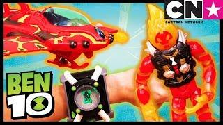 Ben 10 Toy Play For Kids   HEATBLAST'S ROCKET FLYER ALIEN VEHICLE Breaks The Ice   Cartoon Network