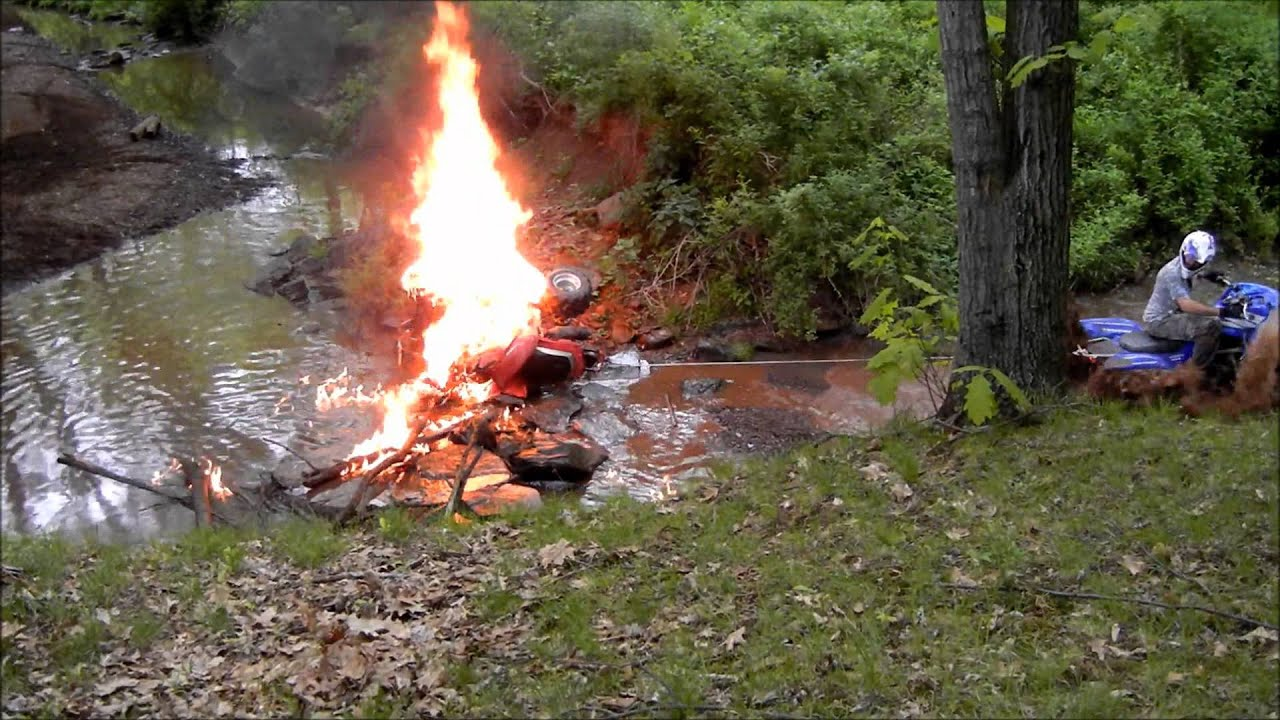 Atv Catches On Fire And Burns To The Ground Youtube