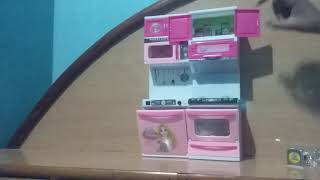 Doll modern kitchen for kids of Disney prinses from fun flower and me