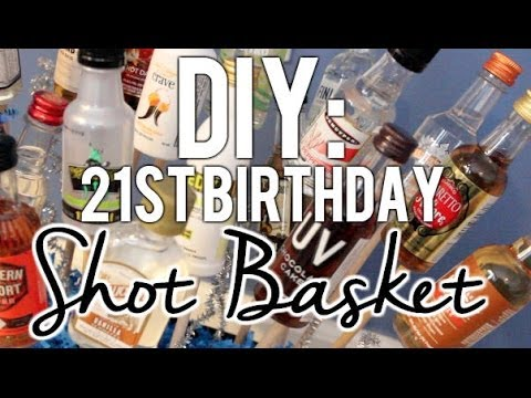 Diy 21st Birthday Shot Basket Present Youtube