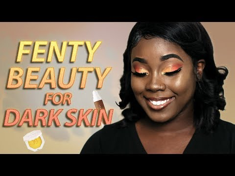 Fenty Beauty FOUNDATION REVIEW for Dark Skin + Trophy Wife Highlighter 🏆