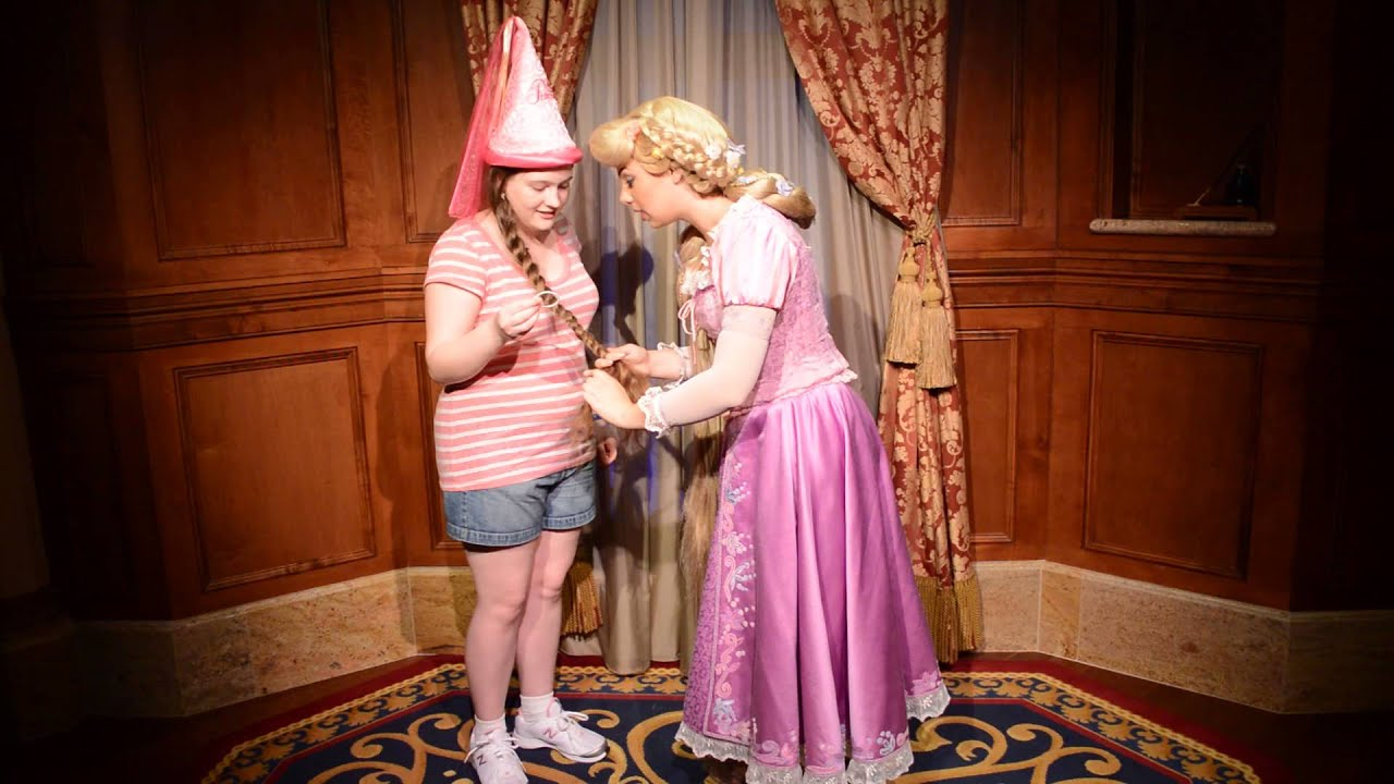 Rapunzel braiding my long hair at Walt Disney World! - YouTube