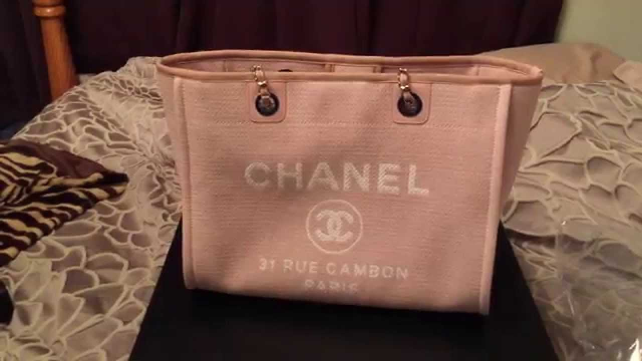 dfc771aca29a CHANEL DEAUVILLE BAG REVIEW - YouTube
