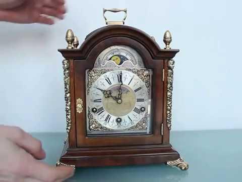 WARMINK TRIPLE CHIME Mantel TOP! Clock Vintage Dutch Westminster Whittington St. Michaels
