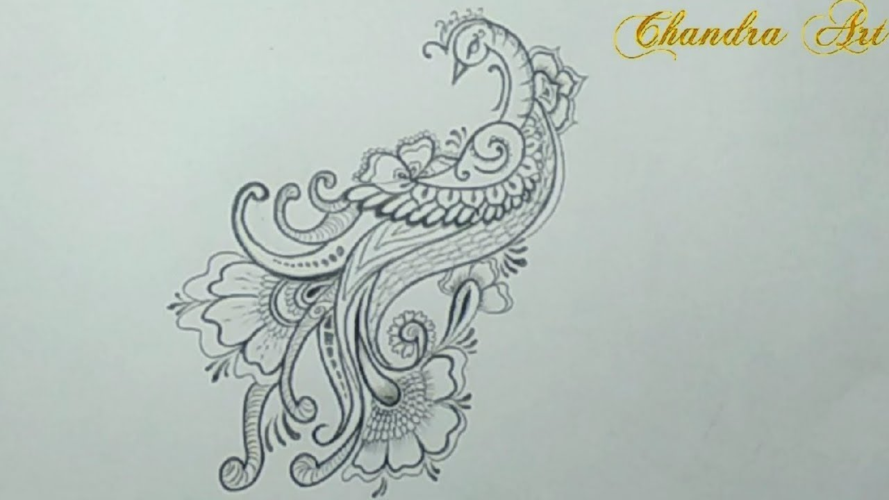 Cool Easy Pencil Drawing How To Draw A Beautiful Design Pea