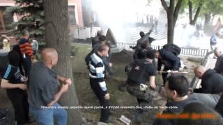 Бой у Донецкой областной прокуратуры. 01.05.2014/Fight off the Donetsk regional prosecutor's office