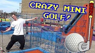 ROLLERCOASTER MINI GOLF!!! 18 Holes of CRAZY Mini Golf!