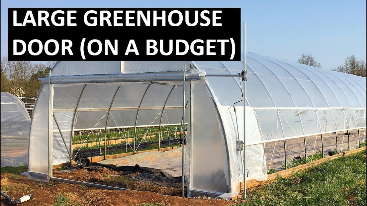 Greenhouse Door Install - Large DIY Greenhouse Door Build