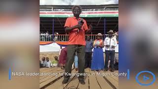 Raila dancing to Harmonize's tune Kwangwaru in Migori