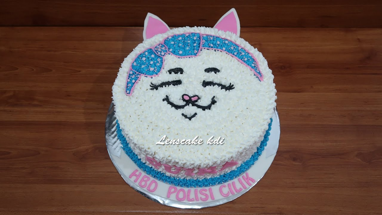 How To Decorating Birthday Cake Cute Cat