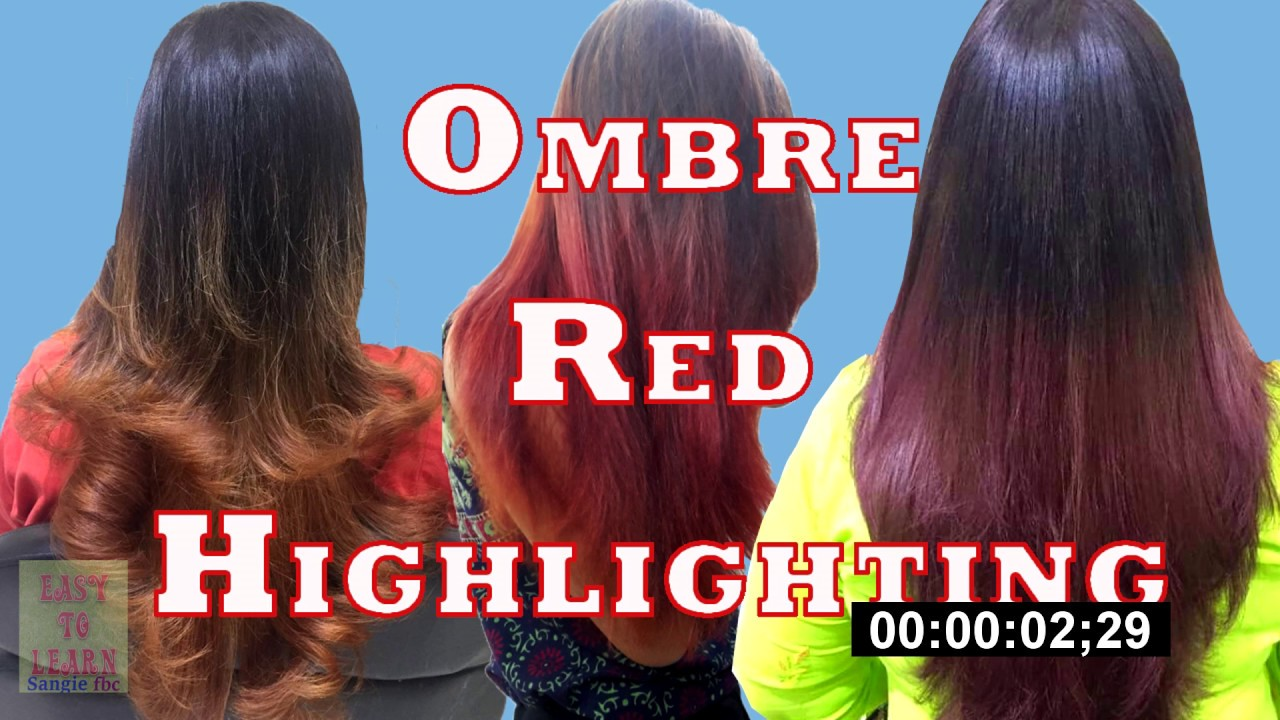 Highlights hair highlightshair with ombre reb colour fashion hair highlights hair highlightshair with ombre reb colour fashion hair colour on black hair step by step pmusecretfo Images