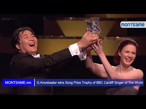 G Ariunbaatar wins Song Prize Trophy of BBC Cardiff Singer of The World