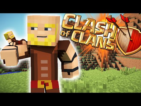 CLASH OF CLANS MOD - COC in Minecraft - 3-D Village, Spawning Troops, + MORE!