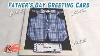 How to make Shirt Card / Father's day card/ Teacher's day card | JK Arts 239