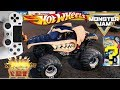 MONSTER JAM VIDEO GAME with SURPRISE HOT WHEELS MONSTER TRUCK TREASURE BOX