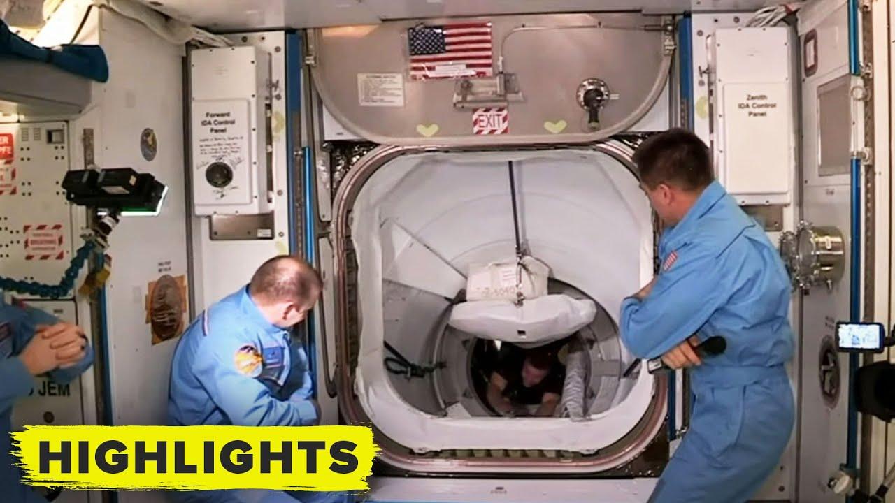 Экипаж корабля Crew Dragon перешёл на МКС