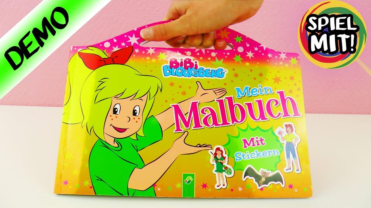 Bibi Blocksberg Video | Tolles MALBUCH mit STICKERN für Bibi Fans ...