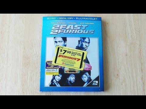 2 Fast 2 Furious Blu-ray | Digital Copy | Furious 7 Fandango Promo Unboxing & Review