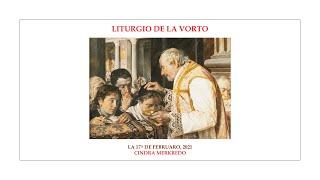 La Liturgio de la Vorto — Cindra merkredo — 17.02.2021