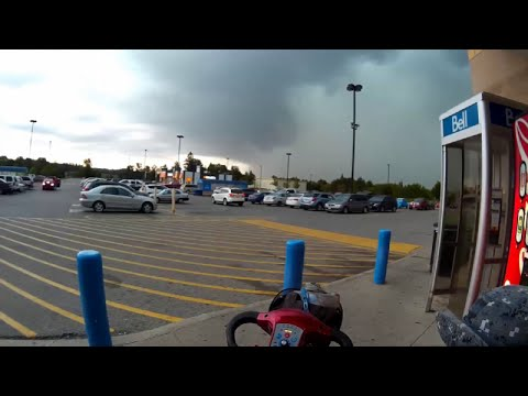Nasty Tornado-Warned Storm Hits Hanover, Ontario, Canada - August 2, 2015
