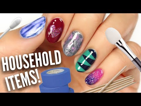 5 Easy Nail Art Designs Using HOUSEHOLD Items! - YouTube Nail Designs At Home Items on at home highlights, at home art, at home accessories, at home spa, at home halloween costume ideas, at home tips, at home straightening, at home christmas, at home tattoos, at home hair extensions, at home fake nails, at home waxing, at home clothes, at home makeup, at home pink, at home guitar room, at home microdermabrasion, at home diy, at home acrylics, at home color,