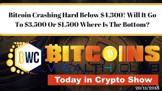 Bitcoin Crashing Hard Below $4,300! Will It Go To $3,500 Or $1,500 Where Is The Bottom? What To Do?
