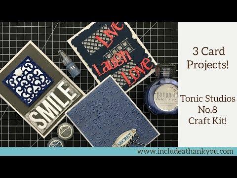 Tonic Studios No.8 Craft Kit 2018   3 Card Tutorials   Metallic Silvers and Deep Blues