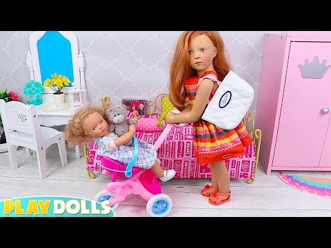 Petitcollin Baby Dolls Dress Up Morning Routine For School - PLAY DOLLS