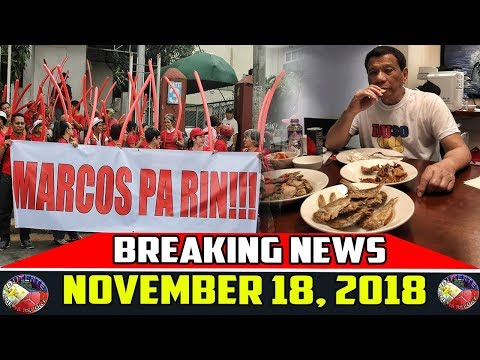 BREAKING NEWS NOVEMBER 18 2018 | PRESIDENT DUTERTE | GRACE POE | MARCOS 2nd ANNIVERSARY | DE LIMA