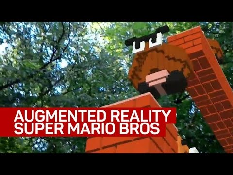 Playing Super Mario Bro' in augmented reality