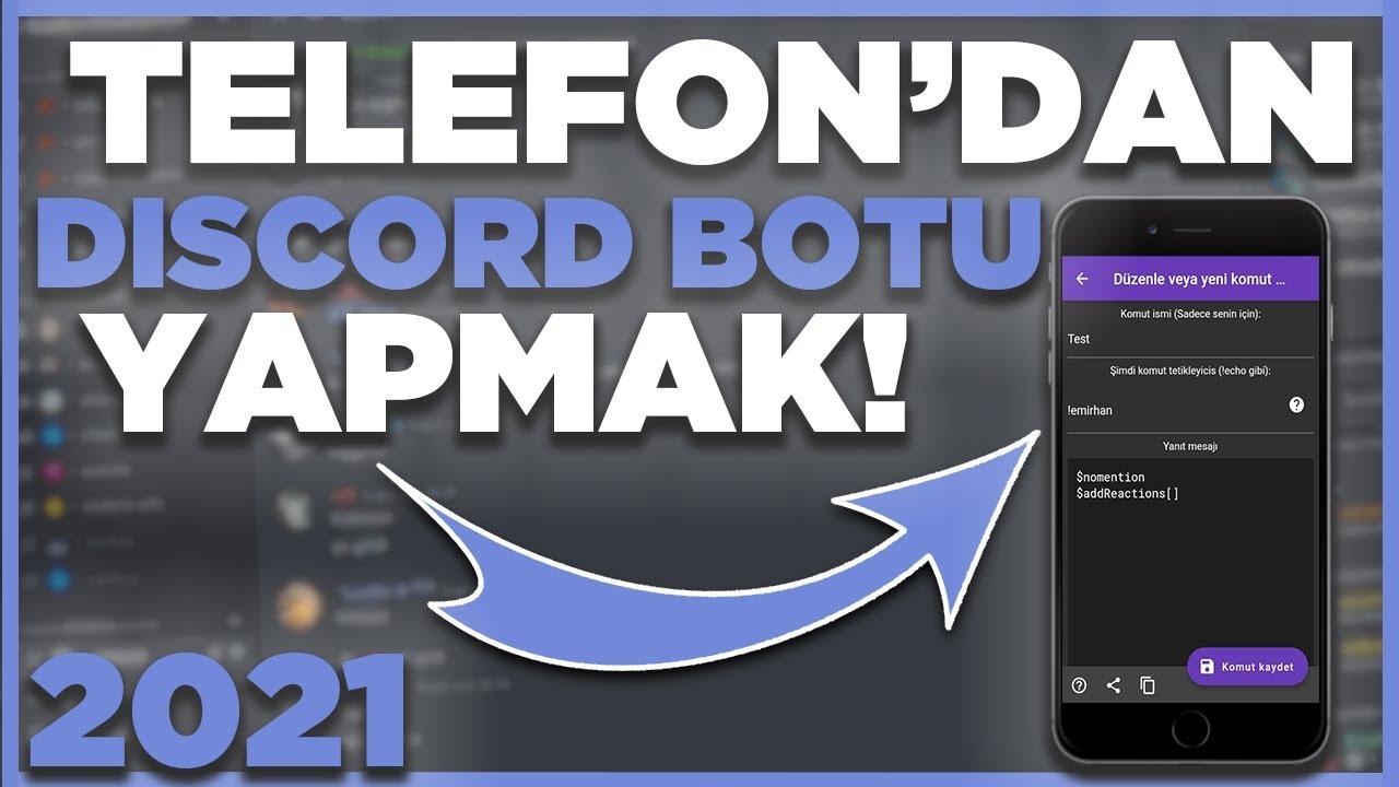 TELEFONDAN DİSCORD BOTU YAPMAK - Discord Bot Yapma Mobil - Discord Bot Yapımı BDFD