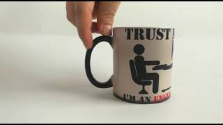 Trust Me I Am An Engineer Mugs Office Mug Coworker Boss Coffee Mug Heat Reveal Tea Gifts Magic