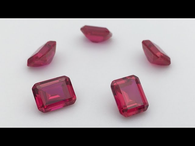 Emerald Cut Synthetic Created Ruby Red Gemstones China Suppliers