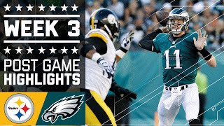Steelers vs. Eagles | NFL Week 3 Game Highlights