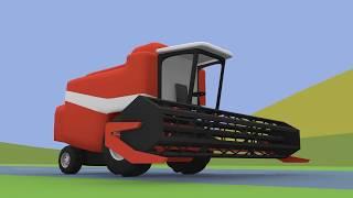 Farm Work | Combine-Harvester | Tractor | Maszyny Rolnicze - Praca na Farmie | Animacje