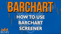 Barchart Stocks with Stock Signals Screener and Setup