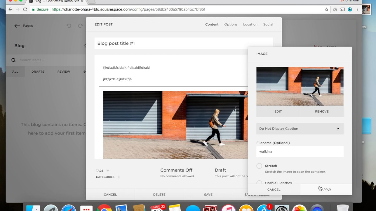 How to set up a blog on a Squarespace website - video