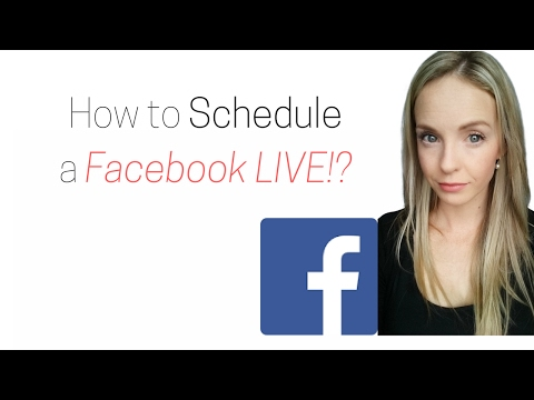 How to Schedule a Facebook Live video ahead of time