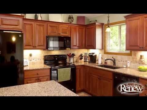 Renew cabinet refacing creates a handsome kitchen remodel