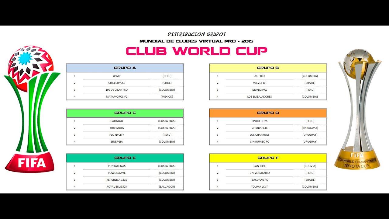 Mundial De Clubes: Sorteo MUNDIAL DE CLUBES VP 2015