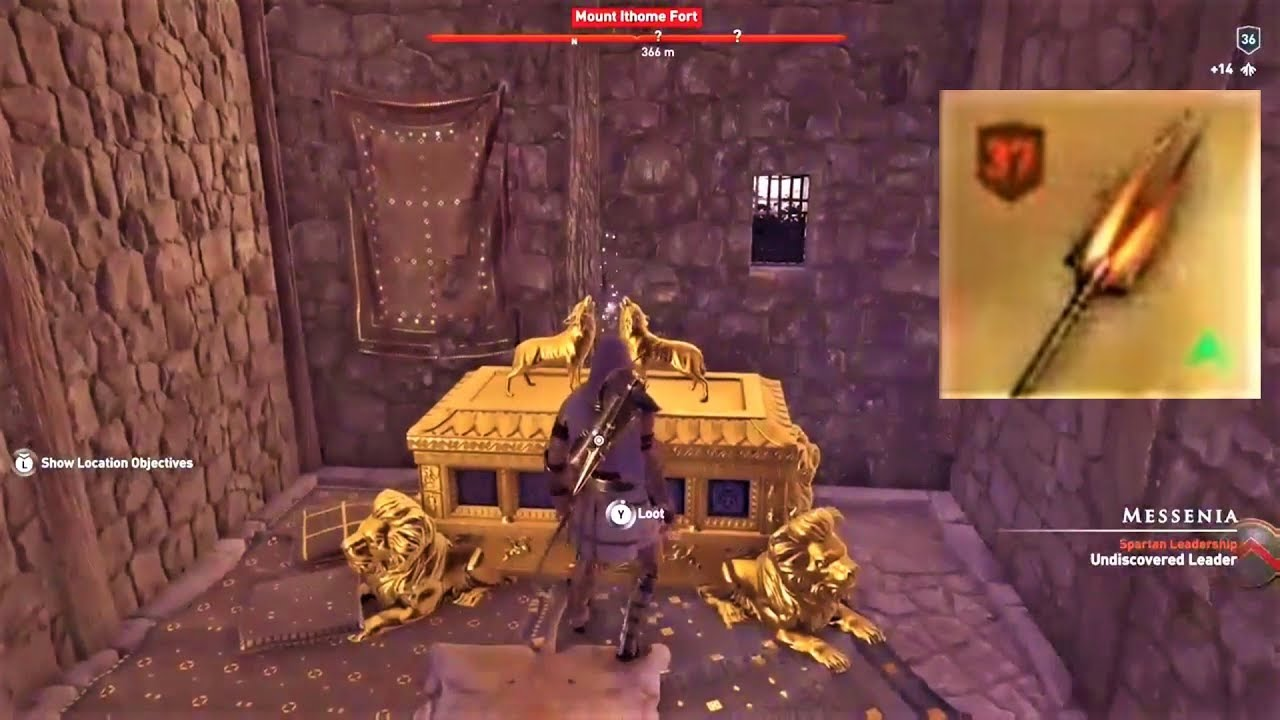 Assassin S Creed Odyssey Legendary Chest Hades S Bident Location Youtube