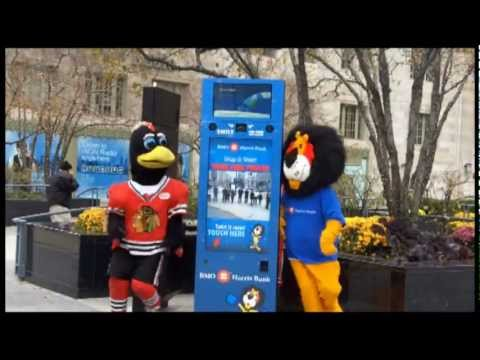 Benny The Bull, Tommyhawk and Hubert have Bieber Fever  |  BMO Harris Bank